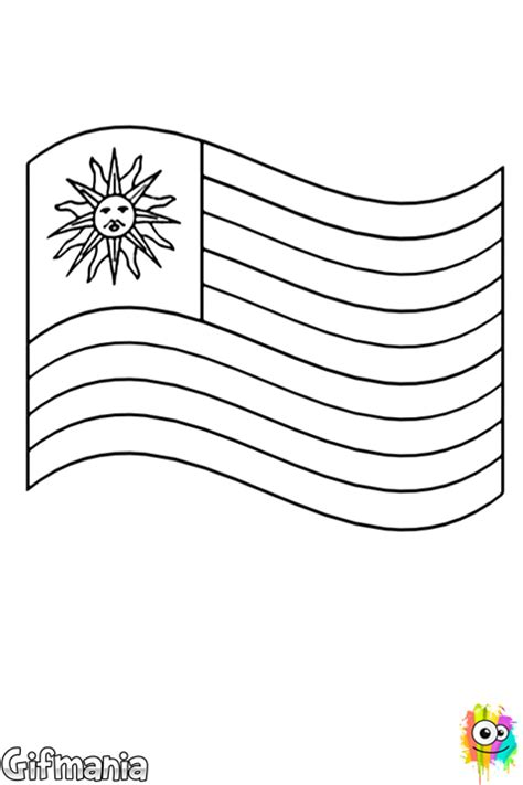 Flag Of Uruguay Coloring Page Uruguay Flag Coloring Page