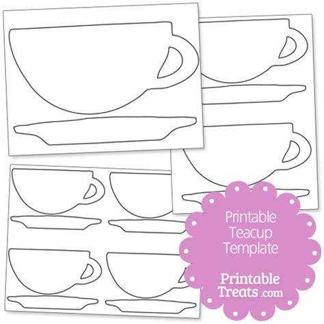 tea cup template free coloring pages of tea cup template