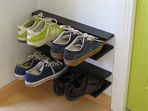 diy shoe rack by front door 5 simple shoe rack solutions homejelly