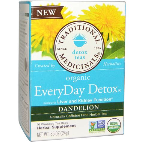 Dandelion Detox Tea Yogi With Ssri by Traditional Medicinals Organic Everyday Detox Tea