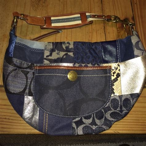 Coach Patchwork Handbag - 87 coach handbags coach denim patchwork handbag