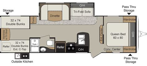 passport rv floor plans 2018 keystone passport 2920bh under the stars rv