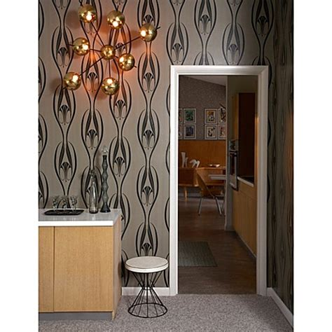 removable wallpaper sherwin williams buy tempaper 174 double roll removable wallpaper in etta