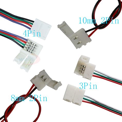 Connector Besi 3 Pin 2 Sets 10pcs 2pin 3pin 4pin connector connector cable for 3528 5050 ws2811 ws2812b 5050 led