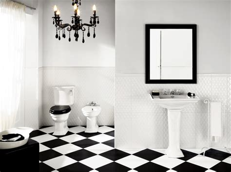 Black And White Tile Floor Bathroom by Black White Tiling That Will Wow You