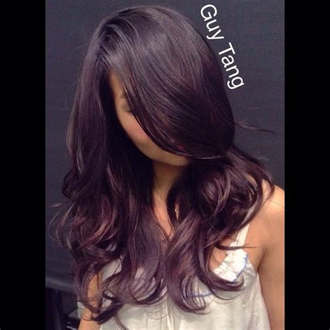 black amethyst hair color smoky black amethyst by tang balayage ombre