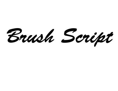 Brush Script brush script font