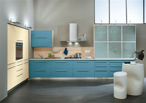 Blue Kitchens by Wall Decor Blue Sky Cabinets Storage Kitchens Ideas