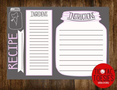 wedding recipe card template 17 best ideas about printable recipe cards on