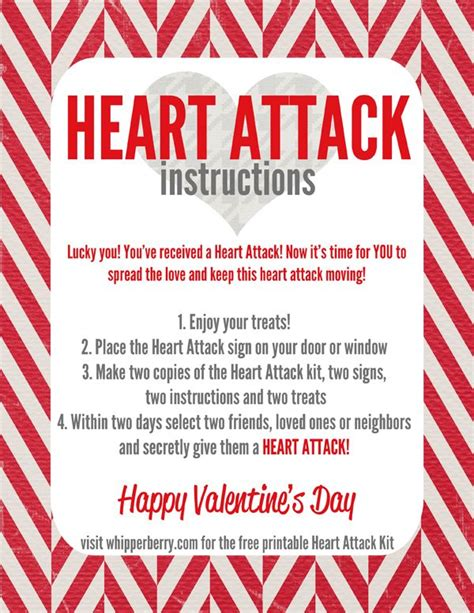 heart attack instructions start   vday tradition