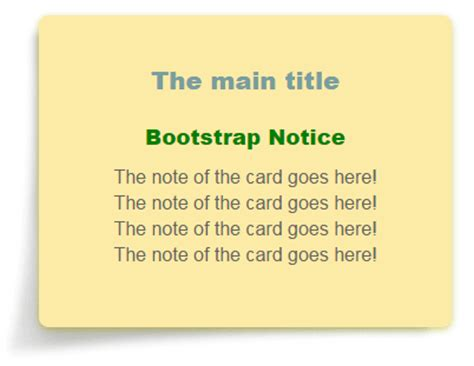 cards template html code bootstrap a css bootstrap notice card 2 templates