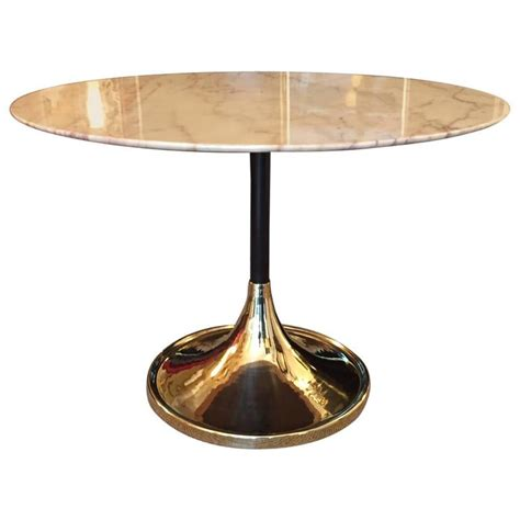 Marble Base Table L by 1970s Italian Tulip Base Marble Table At 1stdibs