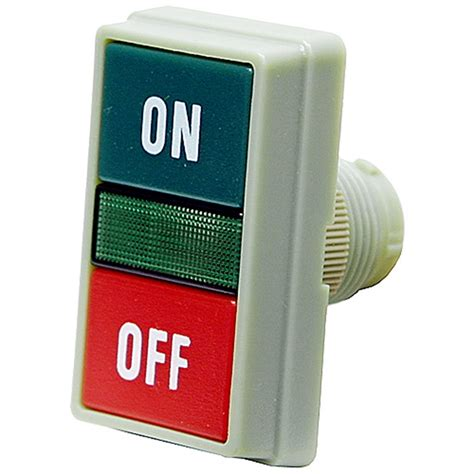 light switch with indicator light 3 position momentary push button switch operator green