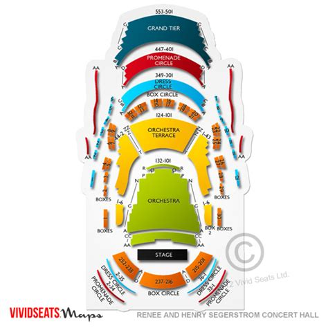 segerstrom seating chart renee and henry segerstrom concert seating chart