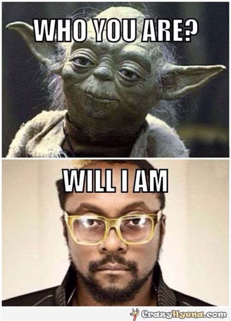 Funny Meme Photos - yoda asking will i am funny celebrity joke