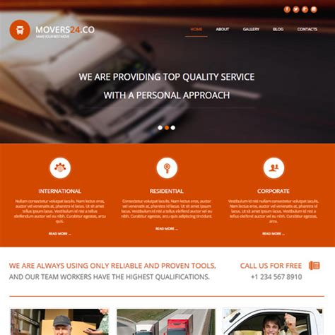 free 002064 movers 24 joomla cargo template by as designing