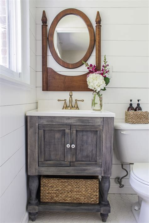 Bathroom Vanity Plans Diy White Diy Bathroom Vanity Featuring Shades Of Blue Interiors Diy Projects