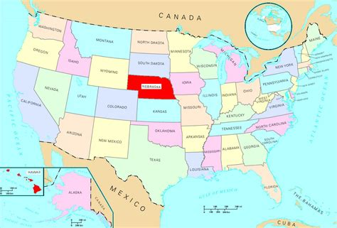 usa with states map card no 13 danielle nebraska usa scriptor s
