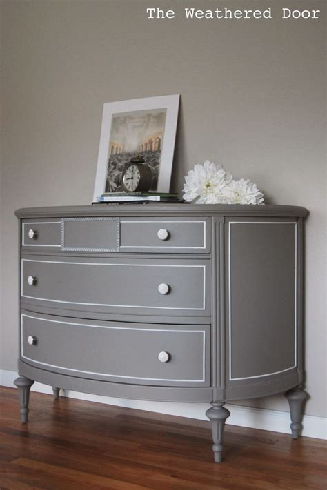 demilune dresser  gray gray painted furniture