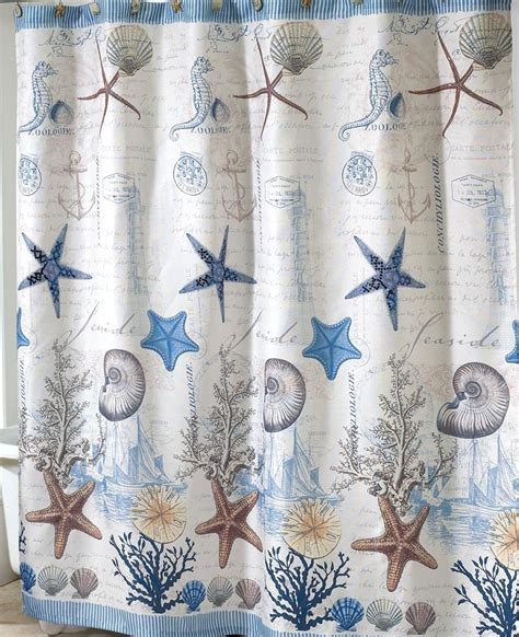 Nautical Themed Curtains Decorating Antigua Nautical Bath Set 5 Coastal Decor Shower Curtain Rug And More