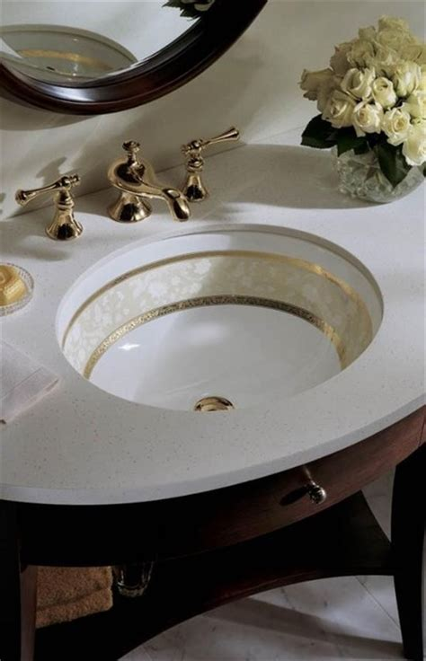 Fancy Bathroom Sink by Kohler K 14218 Fg 0 Flight Of Fancy Gold Design On Caxton