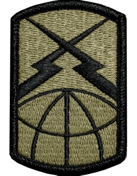 operational camouflage pattern unit patches ocp unit patch 160th signal brigade with fastener