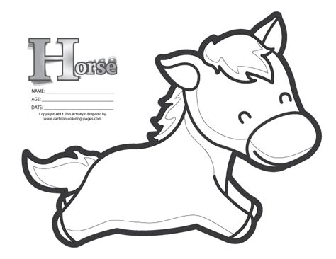 coloring pages of cartoon horses free coloring pages of cartoon horse