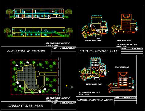 library dwg plan  autocad designs cad