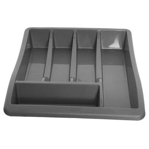 Plastic Cutlery Trays For Drawers by New Kitchen Whitefurze Plastic Silver 5 Section Cutlery