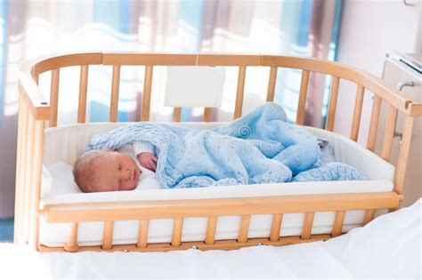 Safe Crib Sleeping by Newborn Baby Boy In Hospital Cot Stock Photo Image 71090361