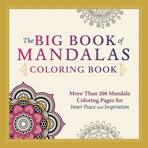 mandala coloring books barnes and noble the big book of mandalas coloring book more than 200