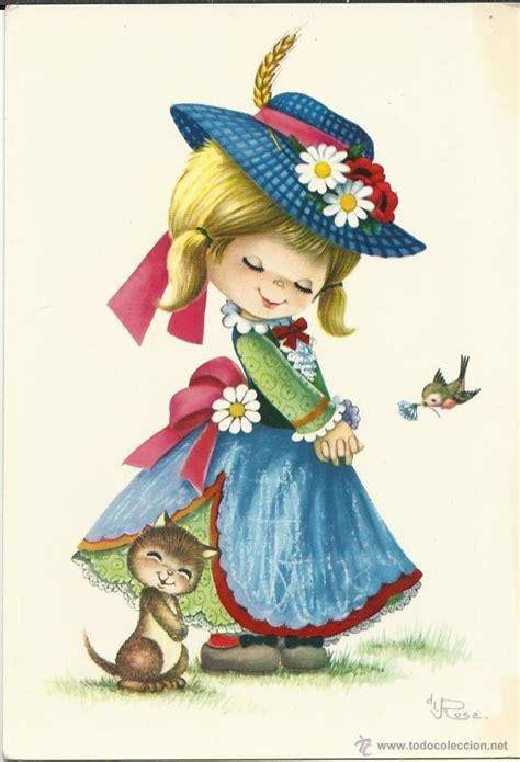 imagenes antiguas bonitas bonita postal antigua postales ni 241 os pintura