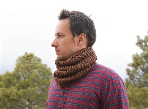 knitting pattern guy manly man beginner knit cowl mama in a stitch