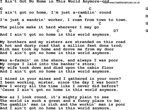 woody guthrie song i ain t got no home in this world