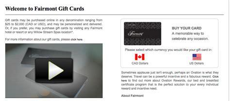 Fairmont Gift Cards - 20 bonus on fairmont gift cards deals we like