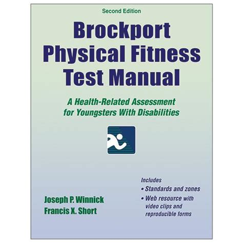 effective physical education content and with web resource an evidence based and tested approach books brockport physical fitness test manual 2nd edition with