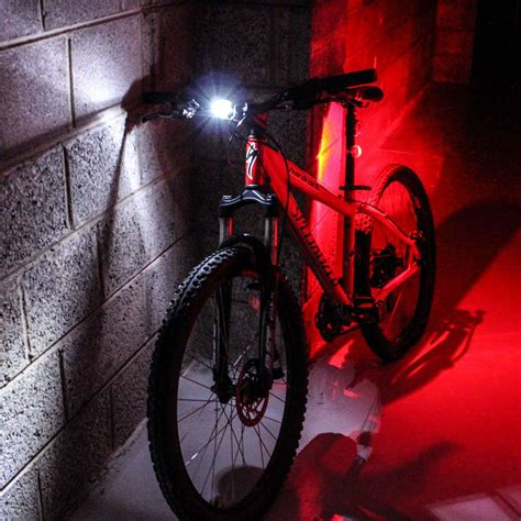 light cycling 7dayshop led bike light set front and rear silicone 7dayshop