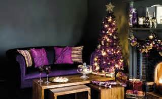 Purple Home Decor Ideas by Christmas Decorations With Minimalist Style And Color