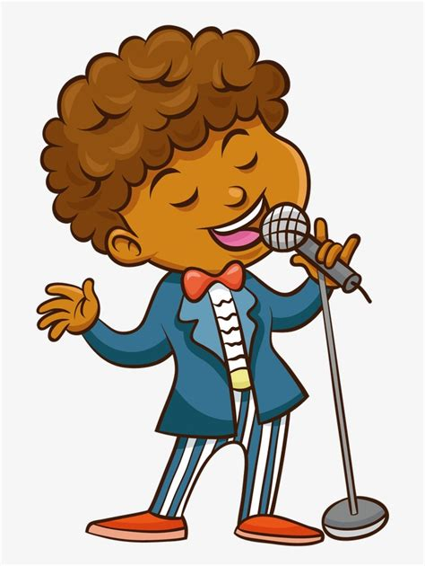 Sing A Song Clipart sing a song boy black png image and clipart for free