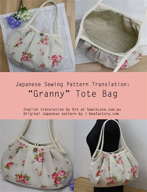 no pattern tote bag granny tote bag i originally found this great project on