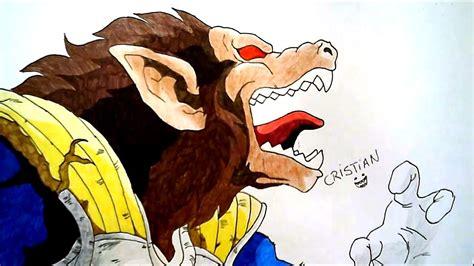 imagenes de goku mono como dibujar a vegeta ozaru how to draw vegeta ozaru