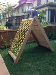 Mincing thoughts kids climbing play structure building a climbing wall and cargo net