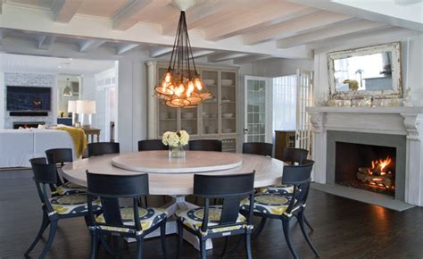 lazy susan dining room table custom headl chandelier custom whitewashed round