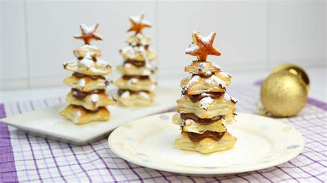 puff pastry christmas trees with nutella easy christmas