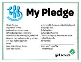 free scout anti bullying pledge bff be a friend