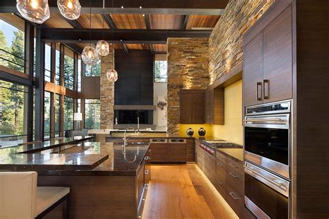 home interior images fabulous mountain modern retreat in the high sierras