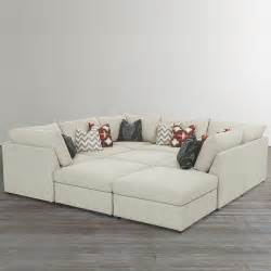 custom upholstered pit shaped sectional - Sofa Pit