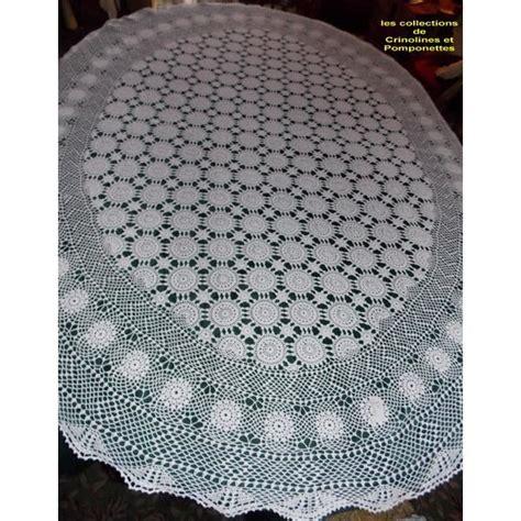 nappe ronde au crochet nappe au crochet nappe crochet nappe crochet fait main deco ovale 135x170 achat vente