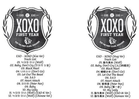download lagu xoxo exo exo ungkap 10 daftar lagu untuk album xoxo fansite exo