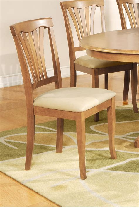 Padded Kitchen Chairs by Set Of 4 Avon Kitchen Dining Chairs With Upholstered Seat